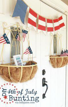 DIY 4th of July bunting