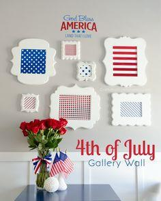 4th of July Gallery Wall