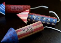DIY 4th of July Place Cards