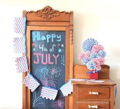 4th Of July Chevron Pattern Crafts