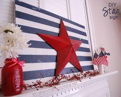 Patriotic Star and Stripes Sign