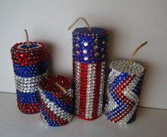 Jeweled Firecracker Decorations