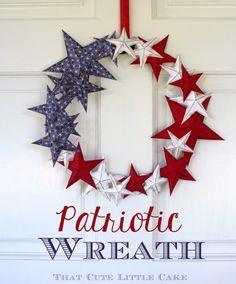 Patriotic July 4th Paper Wreath