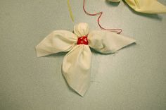 Simple fabric scraps angel tutorial