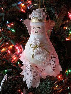 Light Bulb Angel Ornament