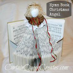 Hymn Book Christmas Angel tutorial