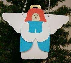 Paper Angel finished and hanging on tree