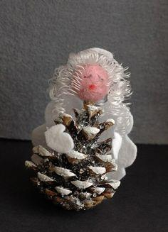 pine cone angel Christmas
