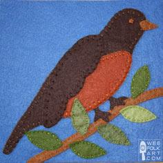 Robin Applique Block ? Wee Folk Art