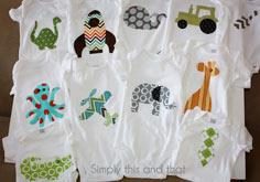 Fabric Applique Boy Onesies tutorial