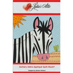 Zachary Zebra Applique