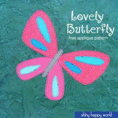 Free Butterfly Applique Pattern