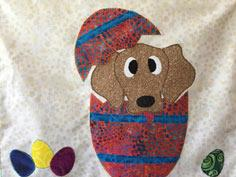 Easter Egg Dog Applique