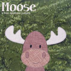 Free Moose Applique Pattern