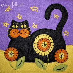 Black Cat Applique Block