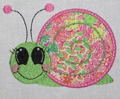 MachEmb-FREE SAMPLE Applique Snail