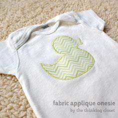 Fabric Applique Onesie Tutorial