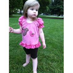 Ruffly Pink Applique Shirt