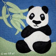 Panda Applique Block