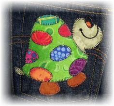 Tommy Turtle Applique Template
