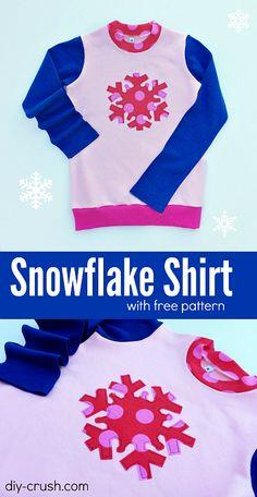 Snowflake Appliqu? Shirt DIY