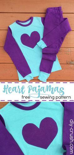 Heart Pajamas Pattern