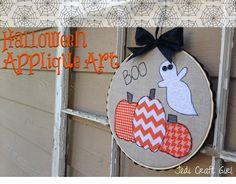 Halloween Pumpkin Applique Art