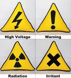 Safety Sign Triangle Pillow