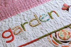 Secret Garden Font Applique