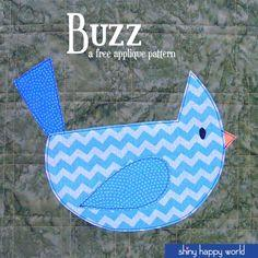 Buzz the Bird Applique Pattern