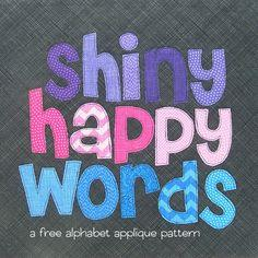 Free Alphabet Applique Pattern