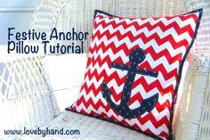 Easy Anchor Pillow Tutorial