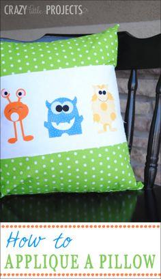 Applique & Throw Pillow Project