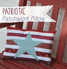 Patriotic Patchwork Pillow
