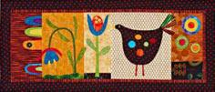Hen and Flowers Wall Hanging pattern