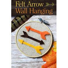 Felt Arrow Wall Hanging Craft