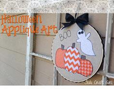 Halloween Pumpkin Applique Art Tutorial