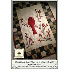 Redbird and Berries Mini Quilt
