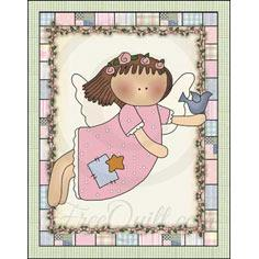 Pink Angel Quilted Wall Hanging Pattern