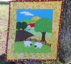 Applique Farm Scene