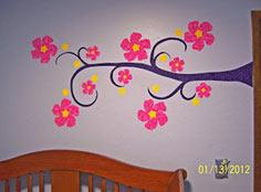 Whimsy-ma-blog: Fabric Wall Appliques