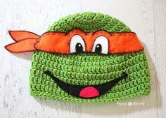 Crochet Ninja Turtle Hat Pattern