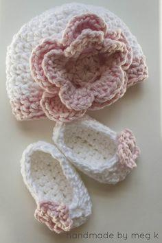 Crocheted Newborn Slippers
