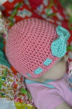 Faux Ribbon Baby Hat