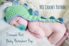Dinosaur hat baby photoshoot prop
