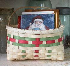 Holiday Card Basket Instructions