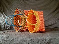 Baskets out of Repurposed Pallet Straps