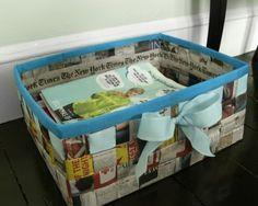 Basket from a Newspaper