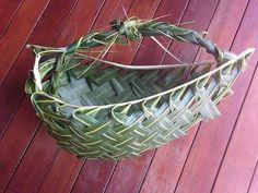 basket from a palm frond