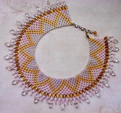 Free Pattern For Beaded Necklace Crystal Leaves
